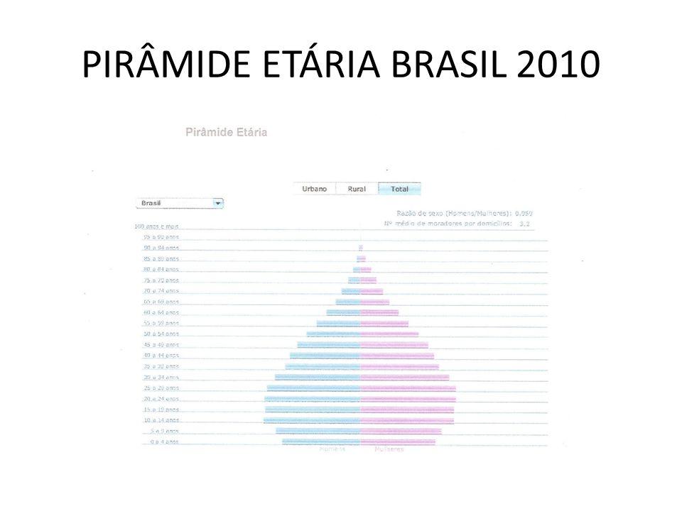 PIRÂMIDE ETÁRIA BRASIL 2010