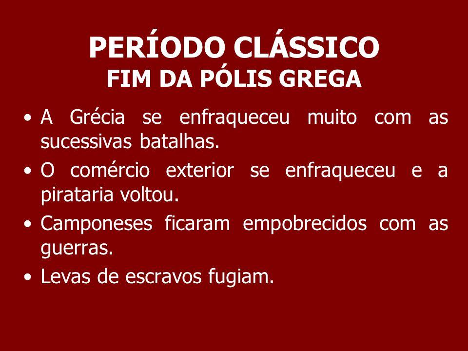 PERÍODO CLÁSSICO FIM DA PÓLIS GREGA