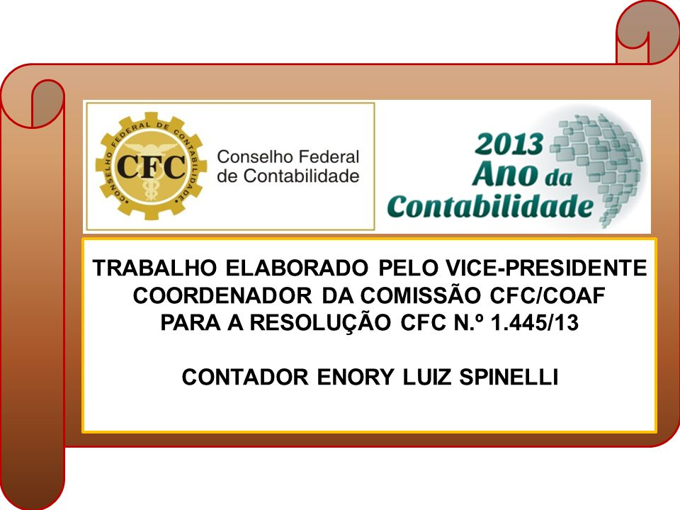 TRABALHO ELABORADO PELO VICE-PRESIDENTE