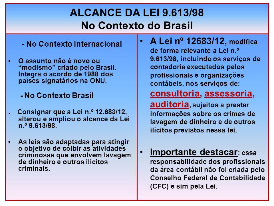 ALCANCE DA LEI 9.613/98 No Contexto do Brasil