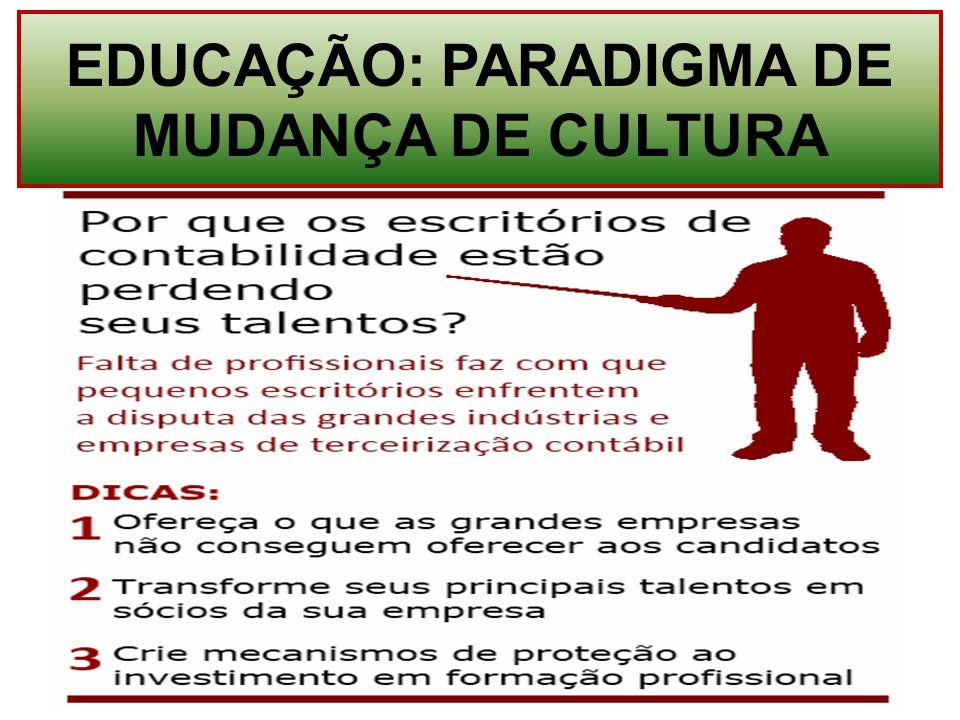 EDUCAÇÃO: PARADIGMA DE MUDANÇA DE CULTURA