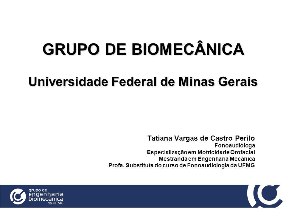 GRUPO DE BIOMECÂNICA Universidade Federal de Minas Gerais