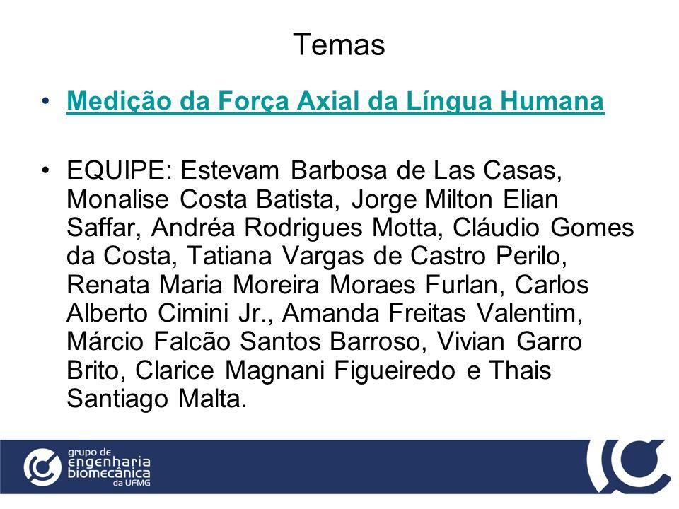 Temas Medição da Força Axial da Língua Humana