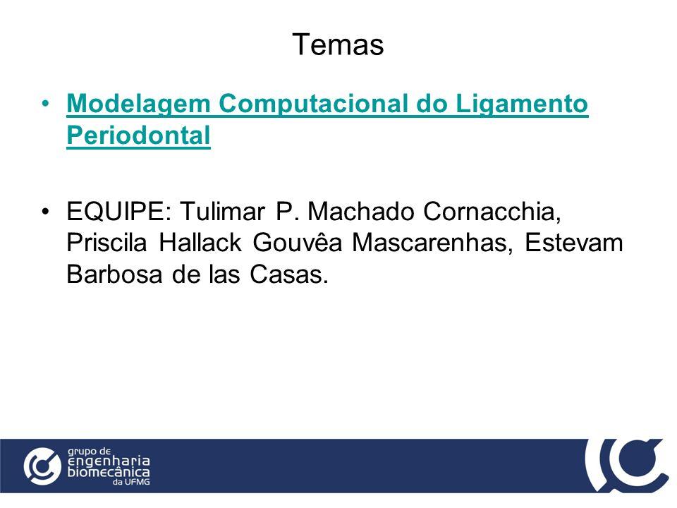 Temas Modelagem Computacional do Ligamento Periodontal