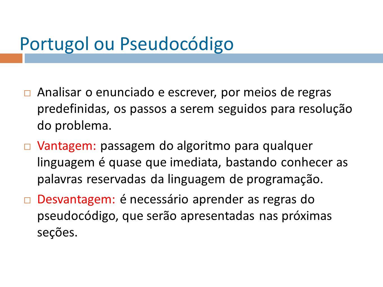 Portugol ou Pseudocódigo