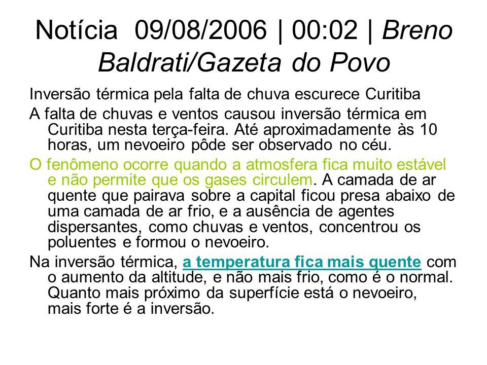 Notícia 09/08/2006 | 00:02 | Breno Baldrati/Gazeta do Povo