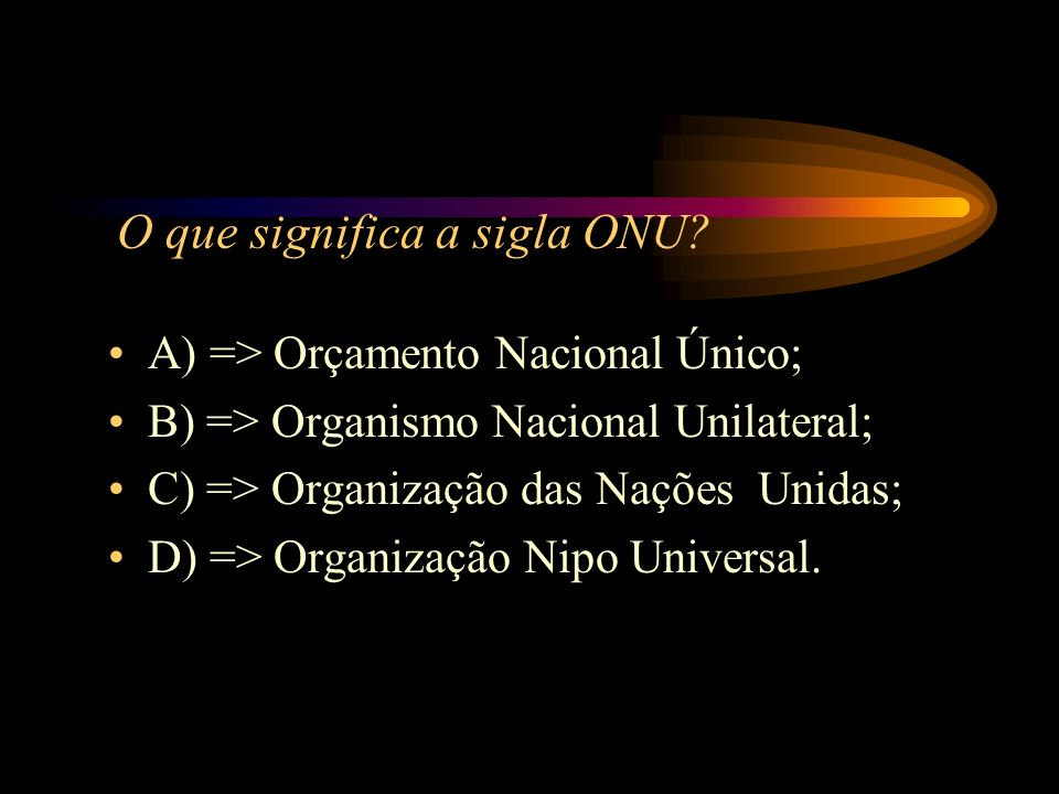 O que significa a sigla ONU