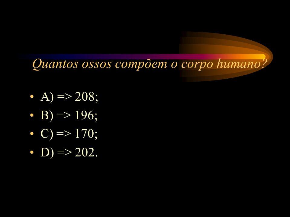 Quantos ossos compõem o corpo humano