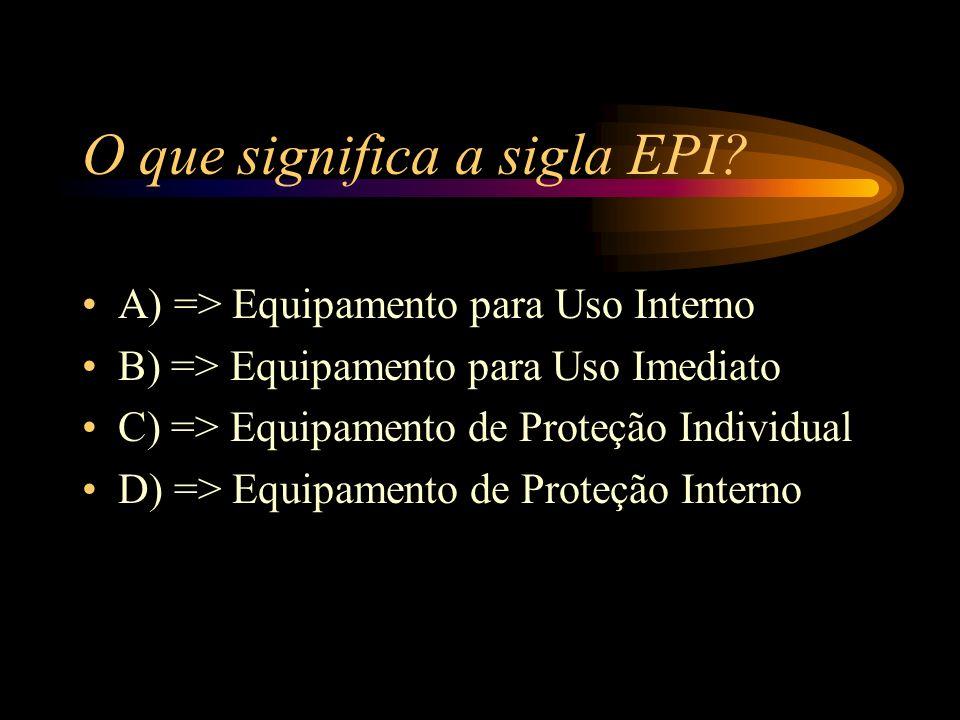 O que significa a sigla EPI