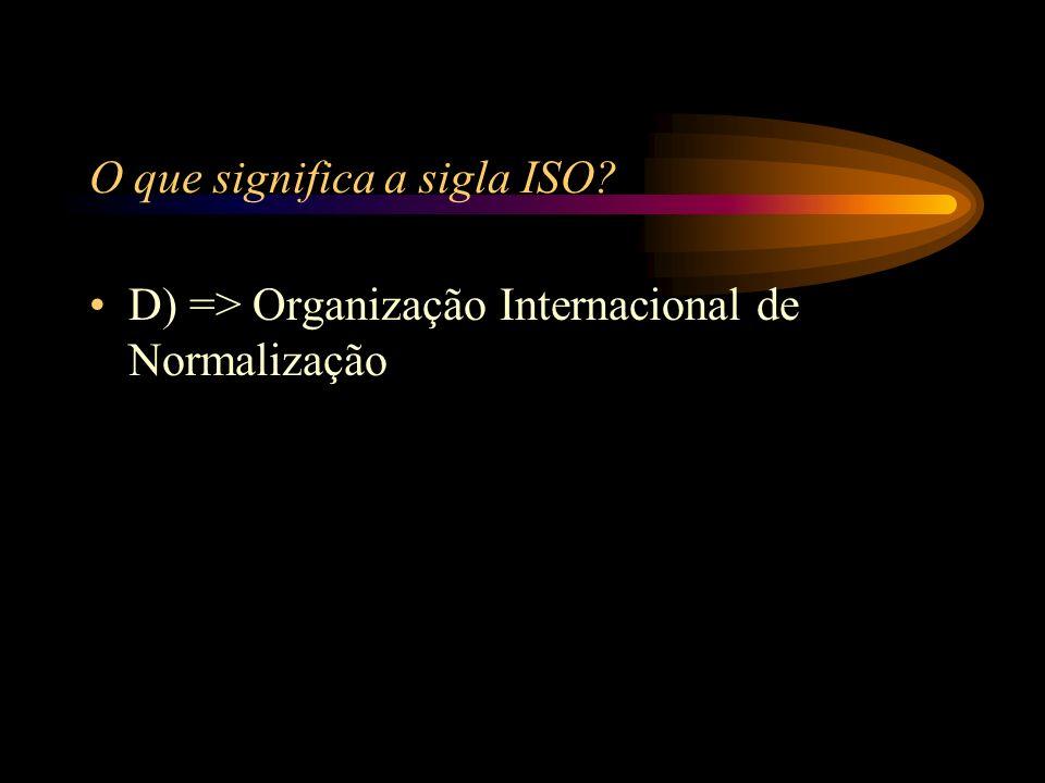 O que significa a sigla ISO