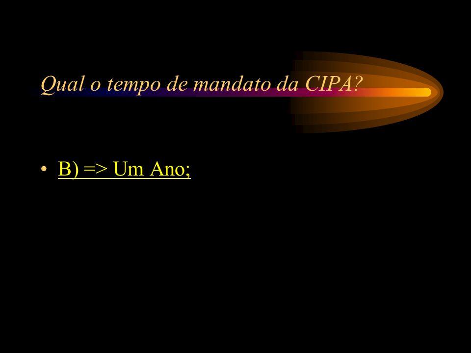Qual o tempo de mandato da CIPA