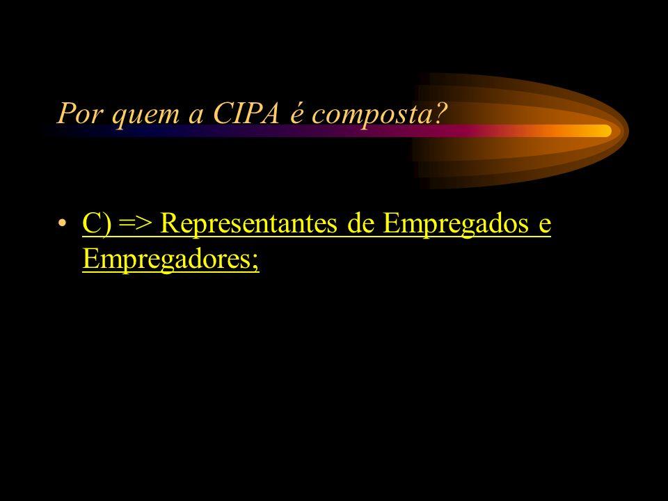Por quem a CIPA é composta