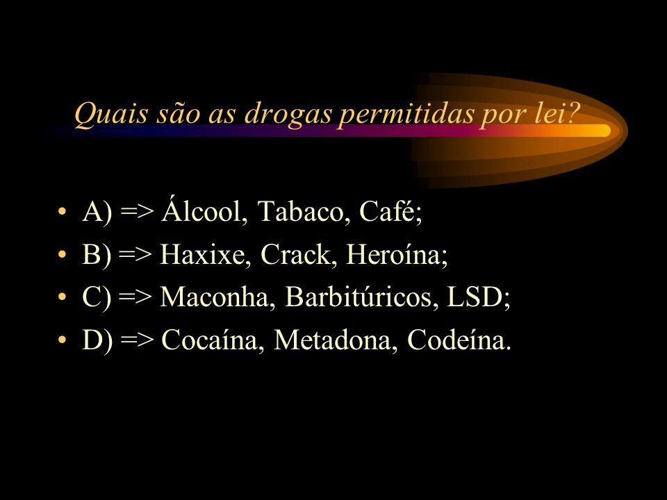 Quais são as drogas permitidas por lei
