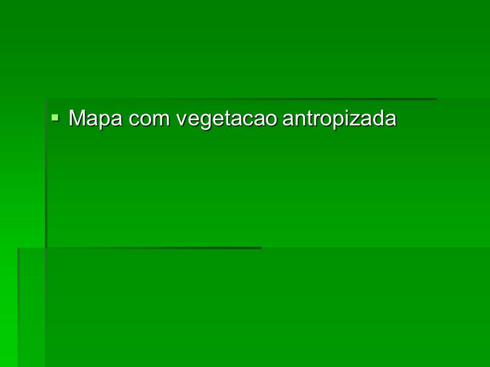Mapa com vegetacao antropizada