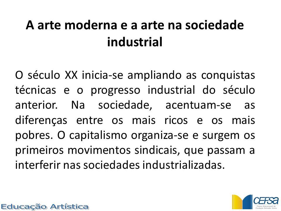 A arte moderna e a arte na sociedade industrial