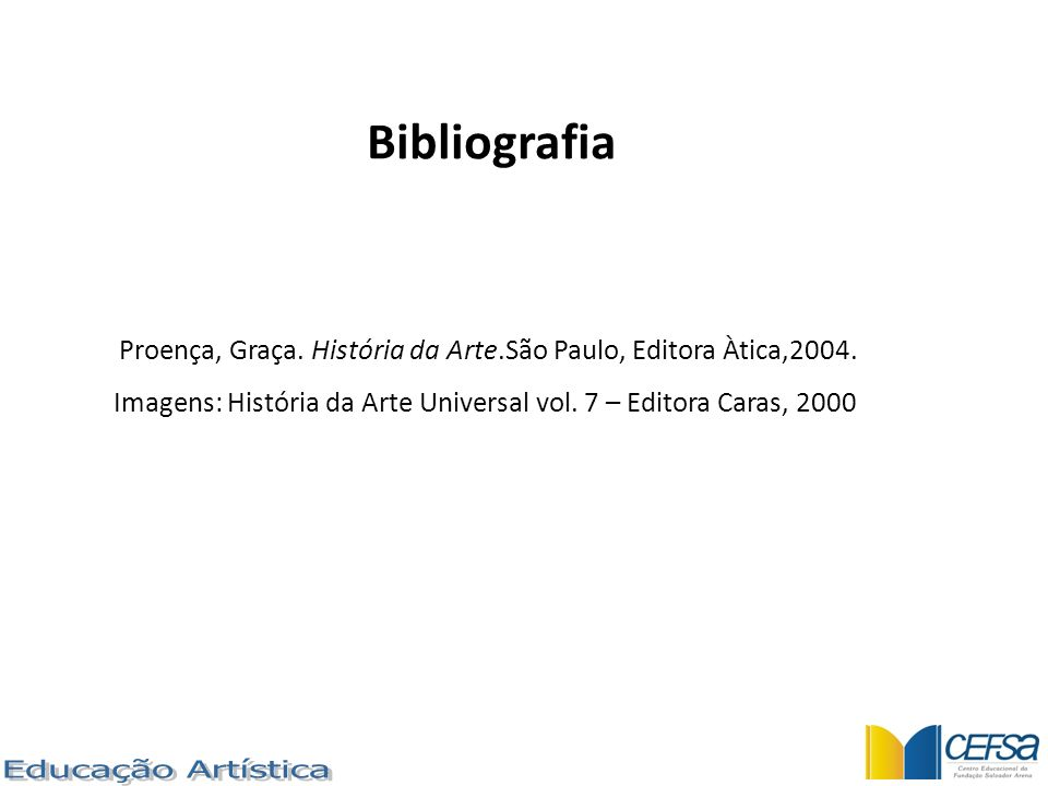 Bibliografia Educação Artística