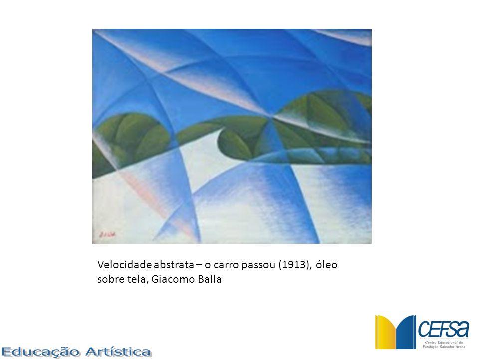 Velocidade abstrata – o carro passou (1913), óleo sobre tela, Giacomo Balla