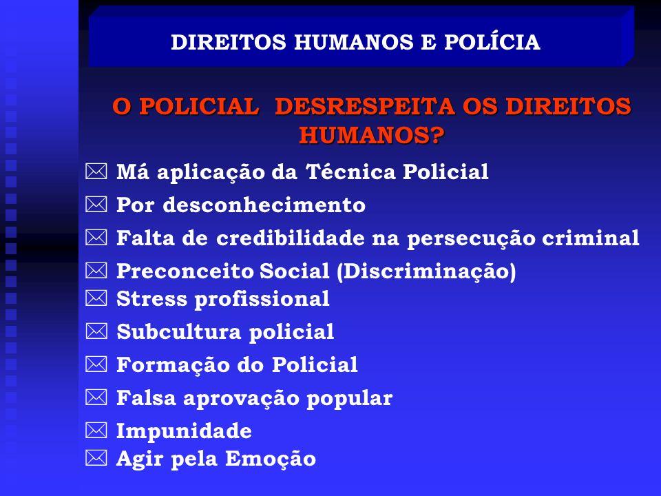 DIREITOS HUMANOS E POLÍCIA O POLICIAL DESRESPEITA OS DIREITOS HUMANOS