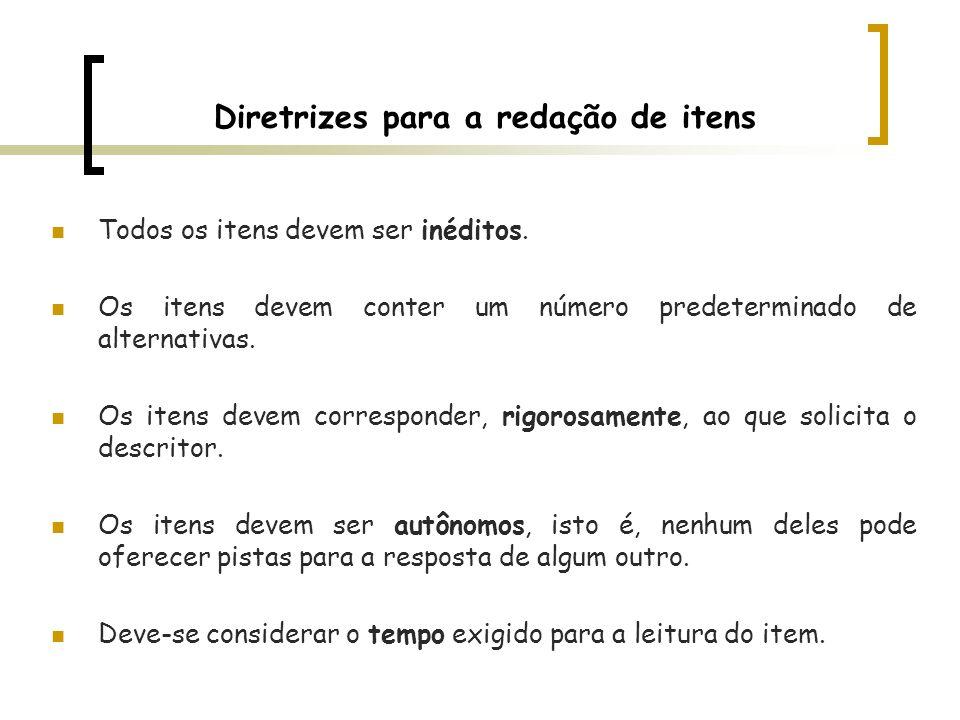 Diretrizes para a redação de itens
