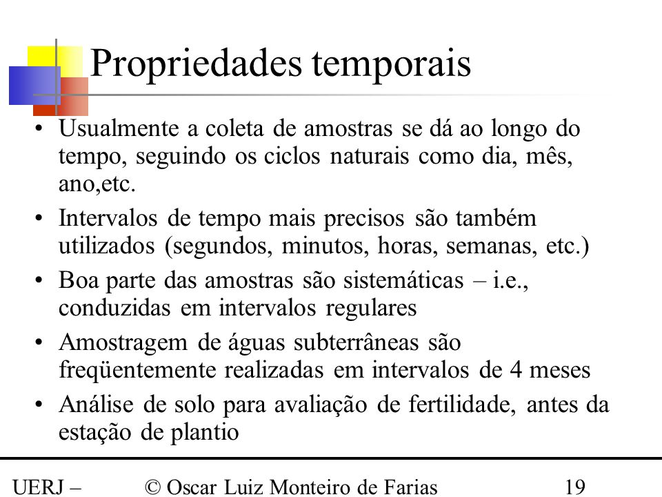 Propriedades temporais