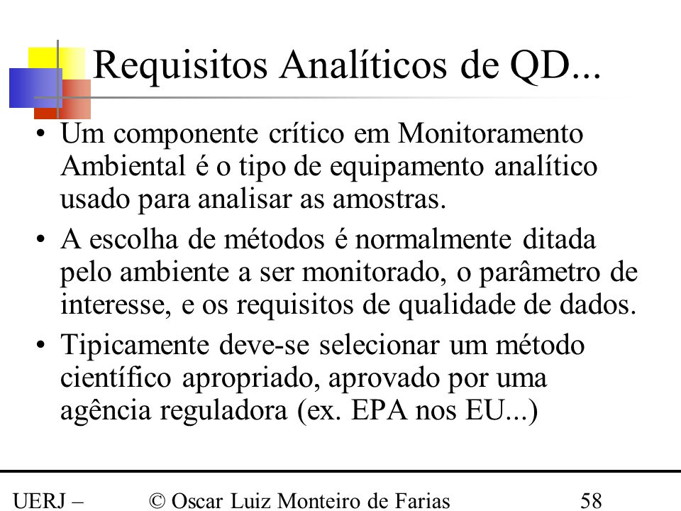Requisitos Analíticos de QD...