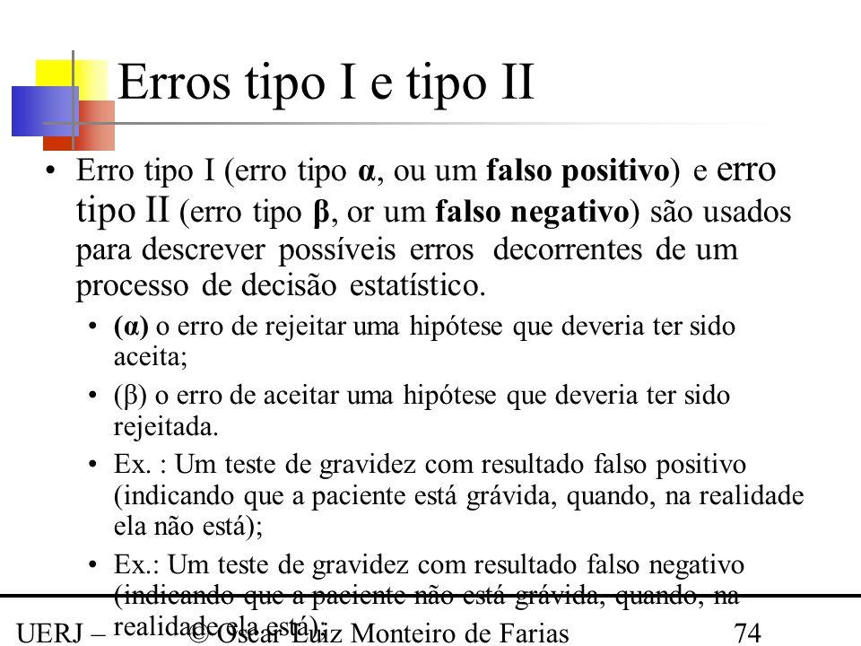 Erros tipo I e tipo II