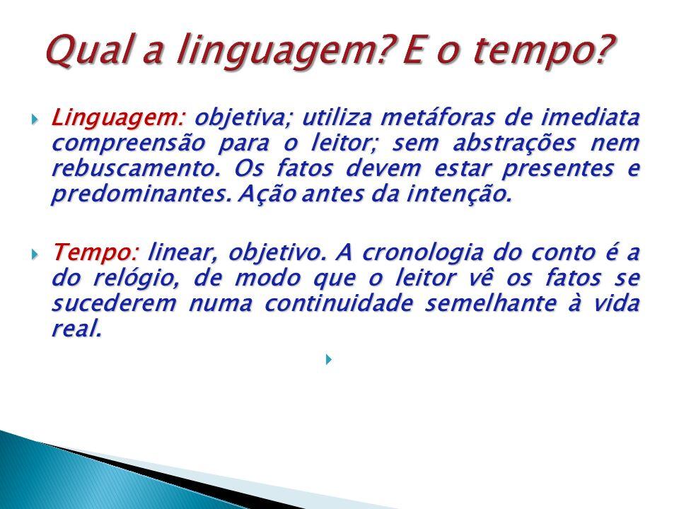 Qual a linguagem E o tempo