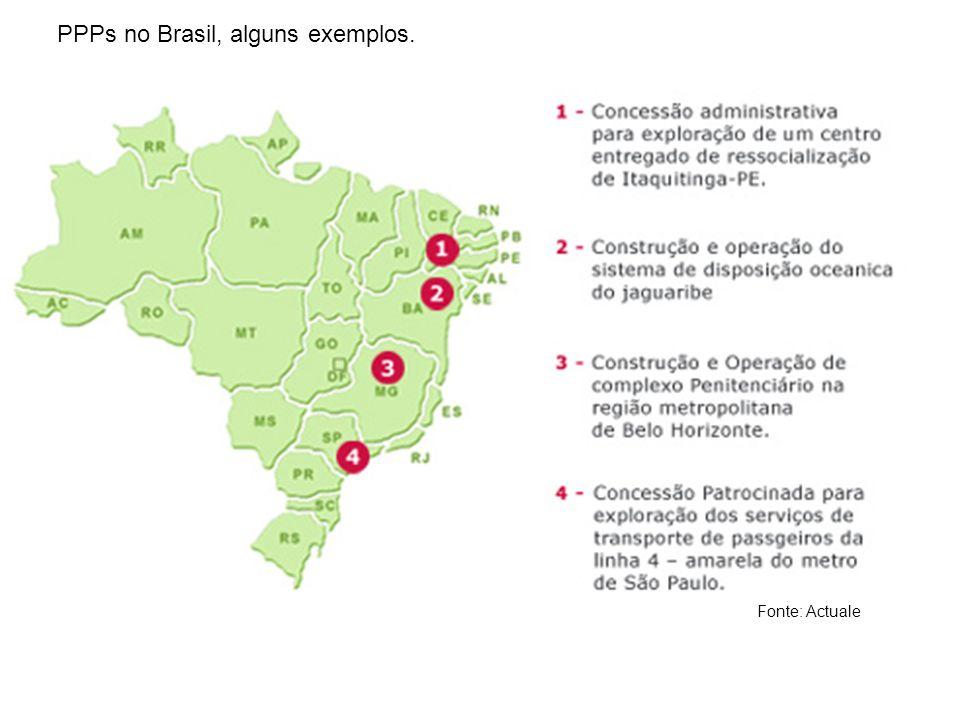 PPPs no Brasil, alguns exemplos.