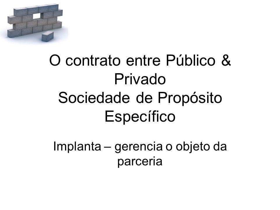 O contrato entre Público & Privado Sociedade de Propósito Específico