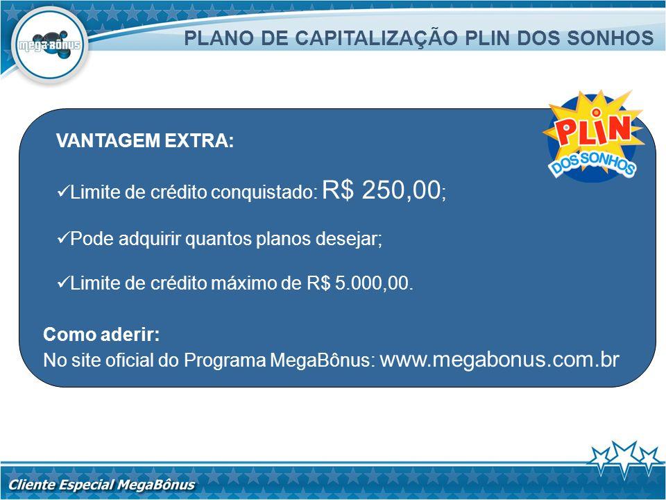 PLANO DE CAPITALIZAÇÃO PLIN DOS SONHOS