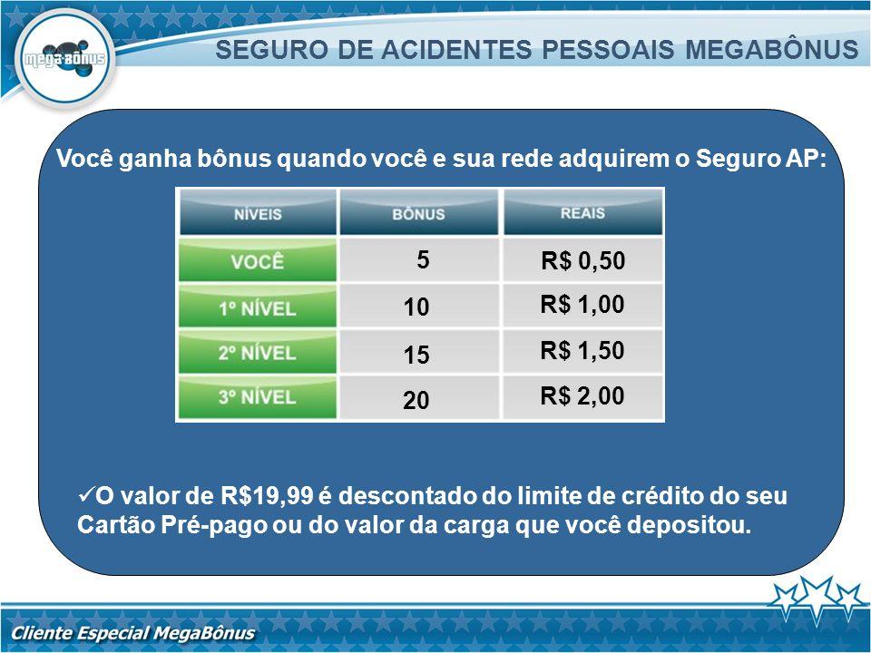 SEGURO DE ACIDENTES PESSOAIS MEGABÔNUS