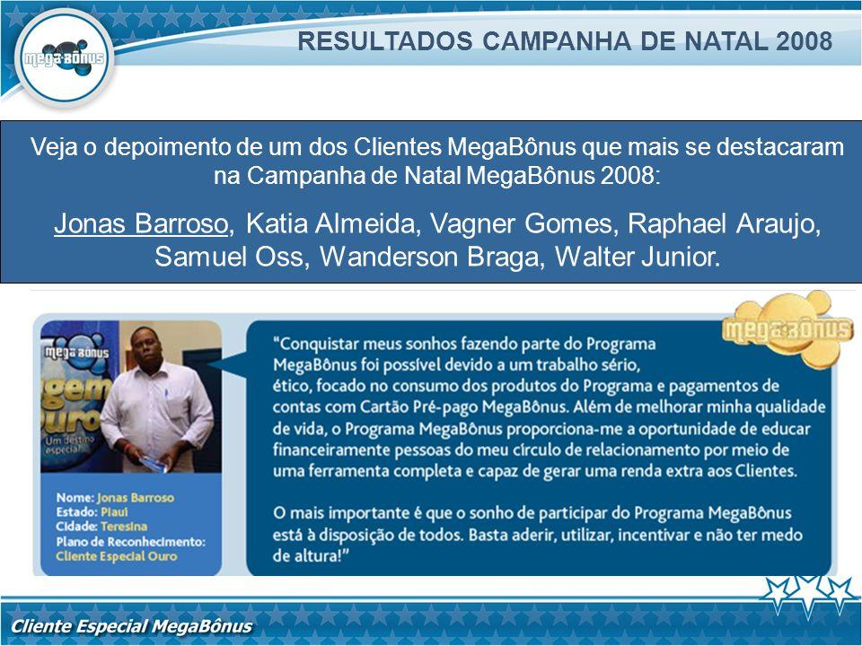 RESULTADOS CAMPANHA DE NATAL 2008