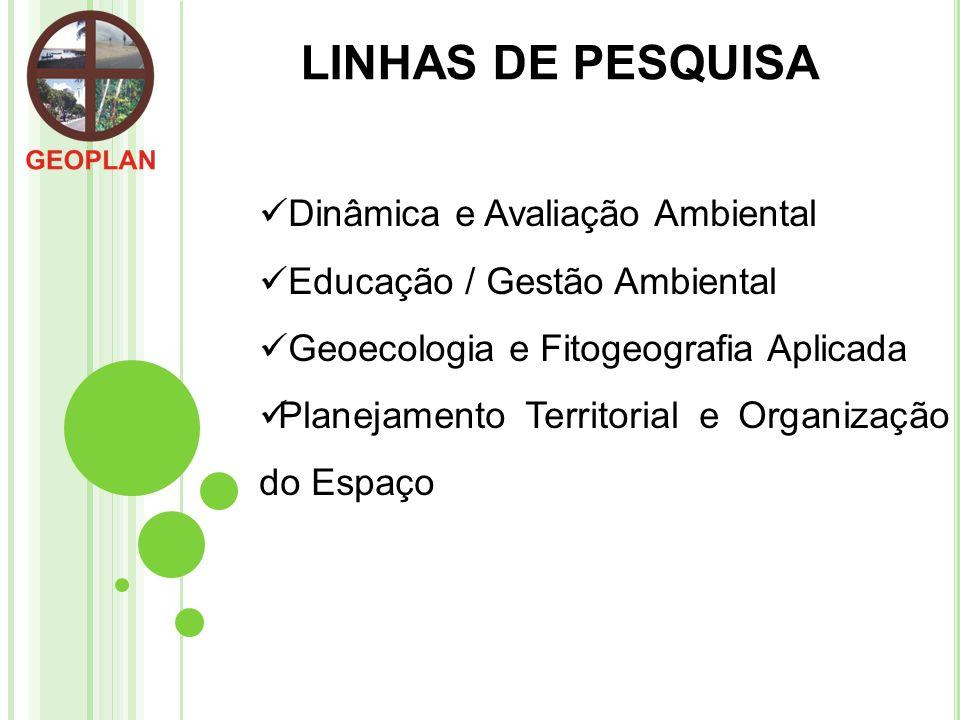 LINHAS DE PESQUISA Dinâmica e Avaliação Ambiental