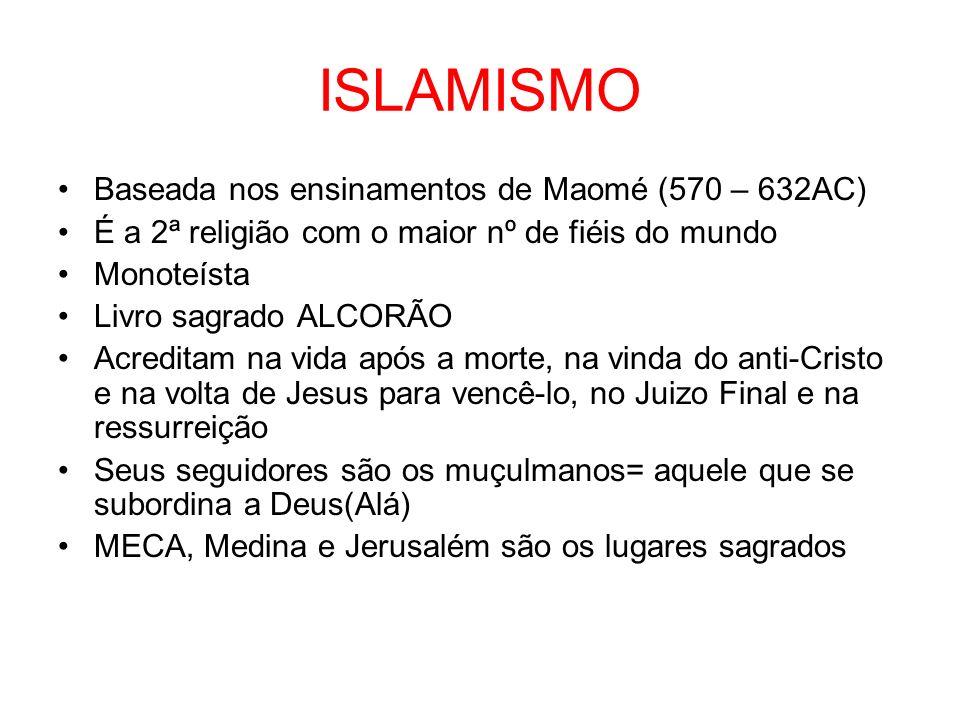 ISLAMISMO Baseada nos ensinamentos de Maomé (570 – 632AC)