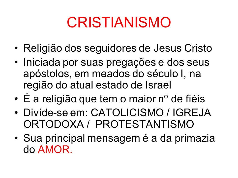 CRISTIANISMO Religião dos seguidores de Jesus Cristo