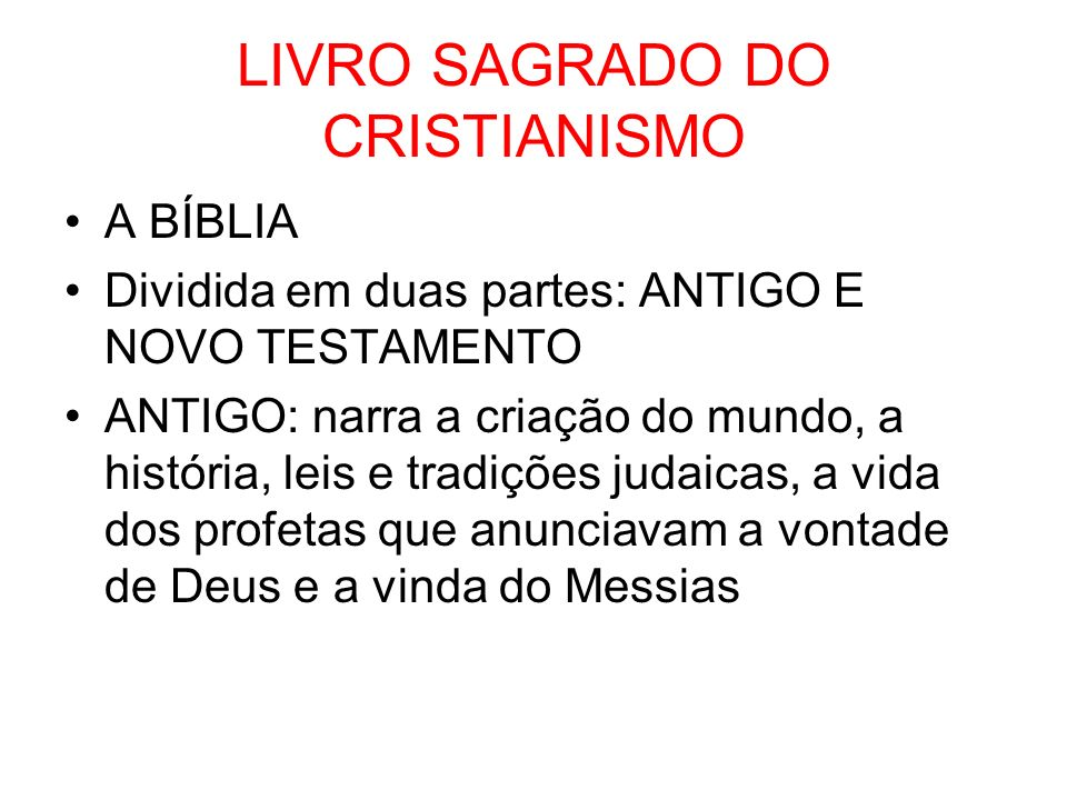 LIVRO SAGRADO DO CRISTIANISMO