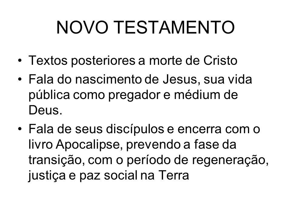 NOVO TESTAMENTO Textos posteriores a morte de Cristo