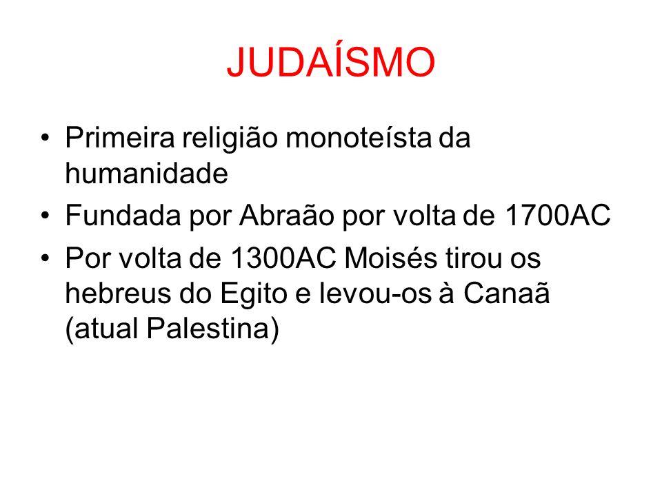 JUDAÍSMO Primeira religião monoteísta da humanidade