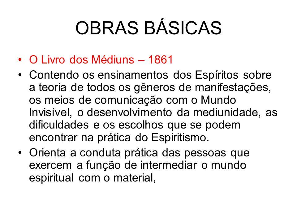 OBRAS BÁSICAS O Livro dos Médiuns – 1861