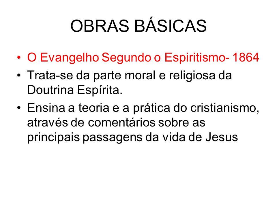 OBRAS BÁSICAS O Evangelho Segundo o Espiritismo- 1864