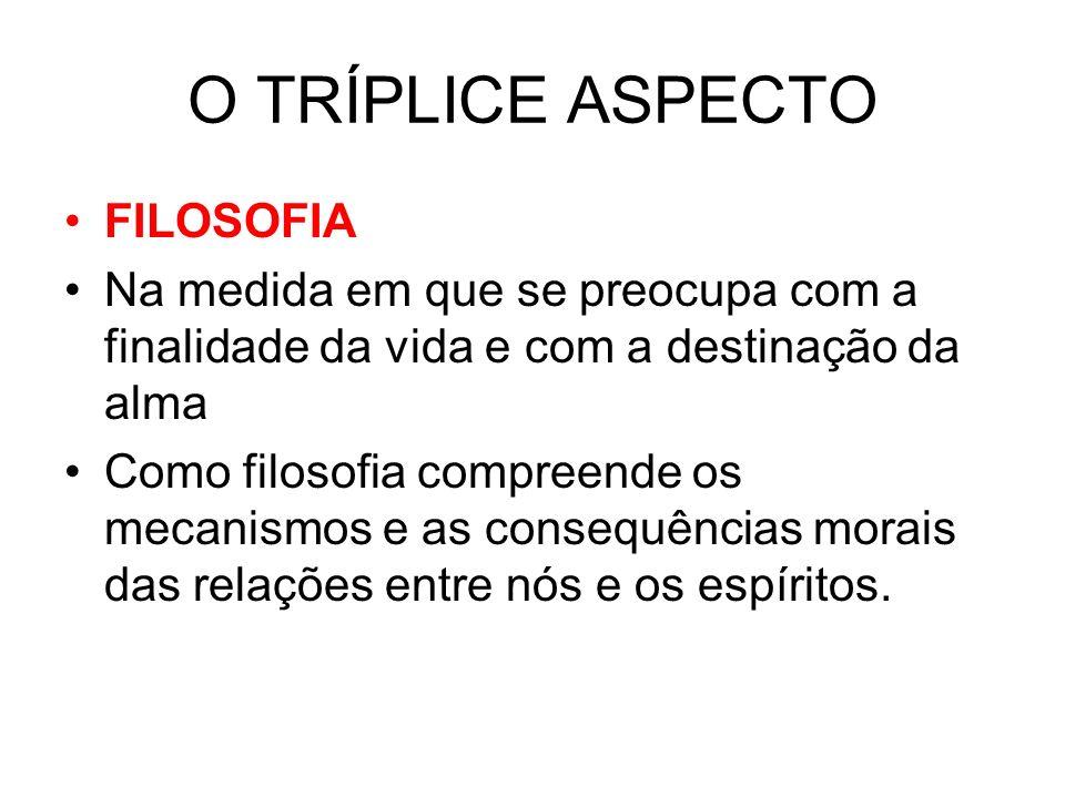 O TRÍPLICE ASPECTO FILOSOFIA
