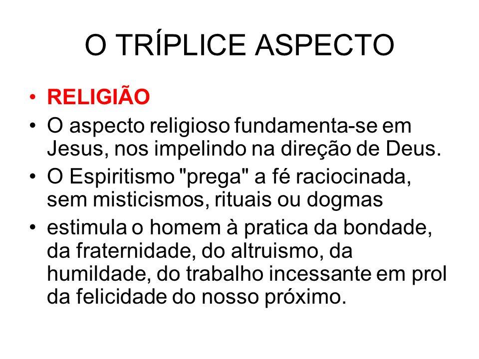 O TRÍPLICE ASPECTO RELIGIÃO