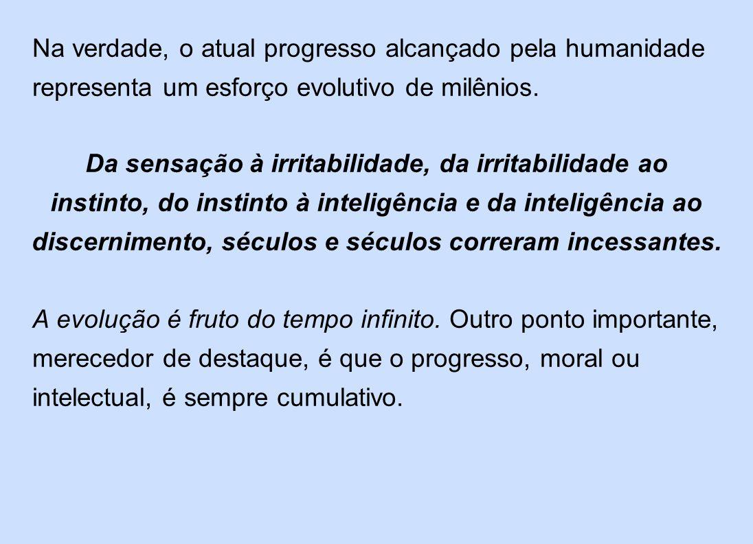 Na verdade, o atual progresso alcançado pela humanidade