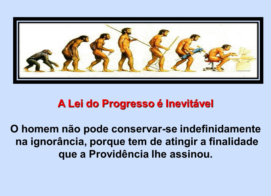 A Lei do Progresso é Inevitável