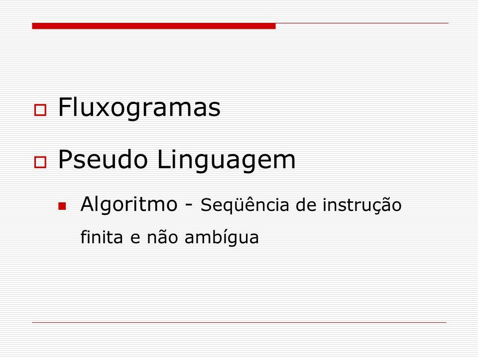 Fluxogramas Pseudo Linguagem