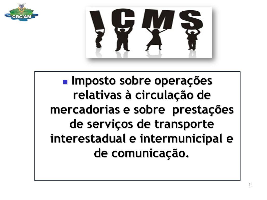 Imposto sobre operações relativas à circulação de mercadorias e sobre prestações de serviços de transporte interestadual e intermunicipal e de comunicação.
