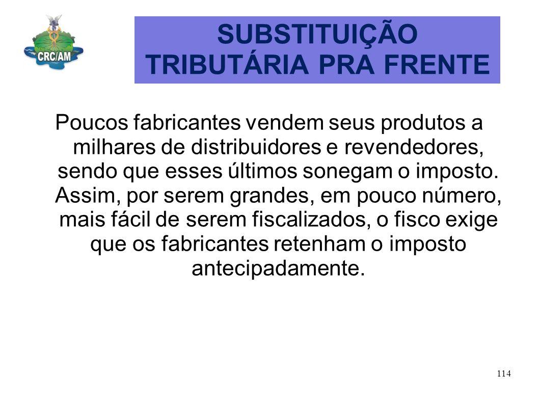 SUBSTITUIÇÃO TRIBUTÁRIA PRA FRENTE