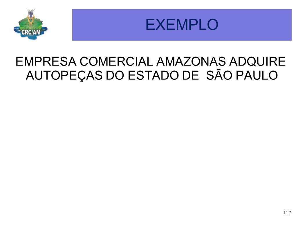 EXEMPLO EMPRESA COMERCIAL AMAZONAS ADQUIRE AUTOPEÇAS DO ESTADO DE SÃO PAULO
