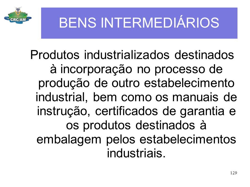BENS INTERMEDIÁRIOS