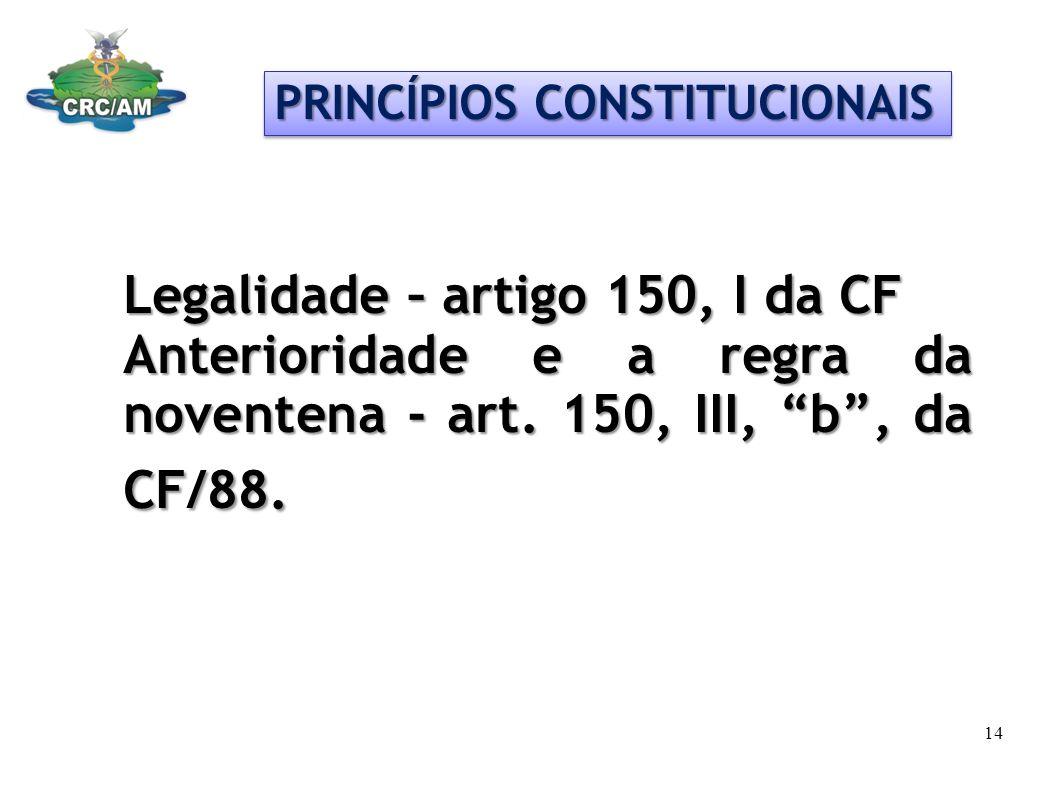 Legalidade – artigo 150, I da CF